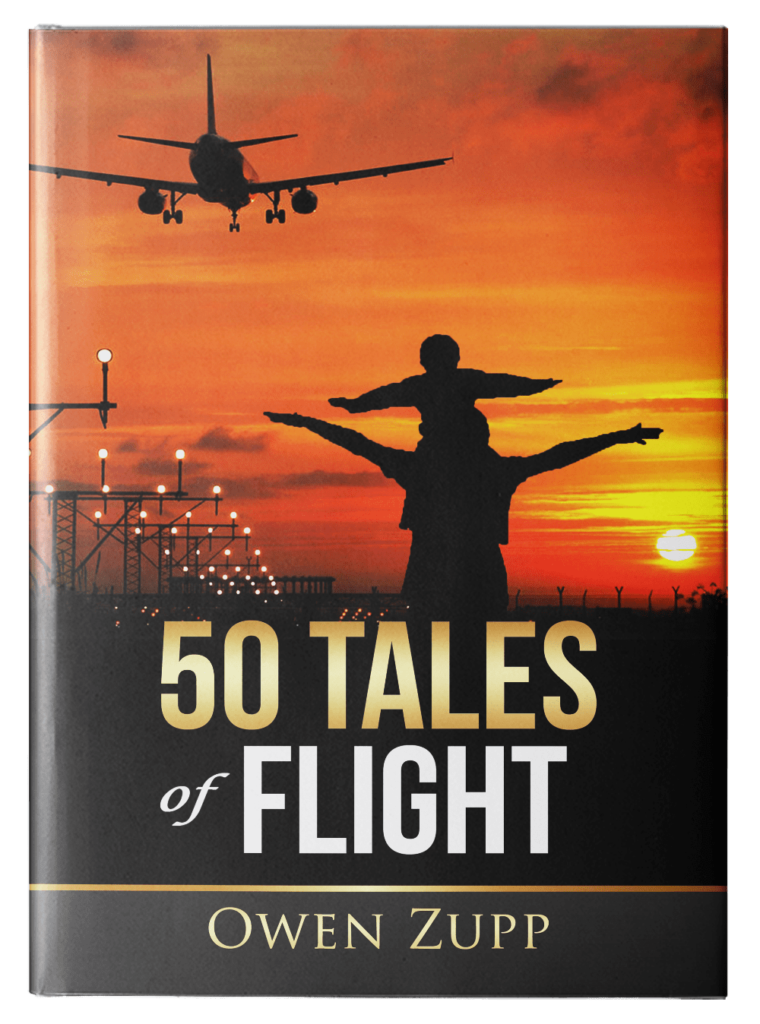 Owen Zupp, author, aviation books. 50 Tales of Flight