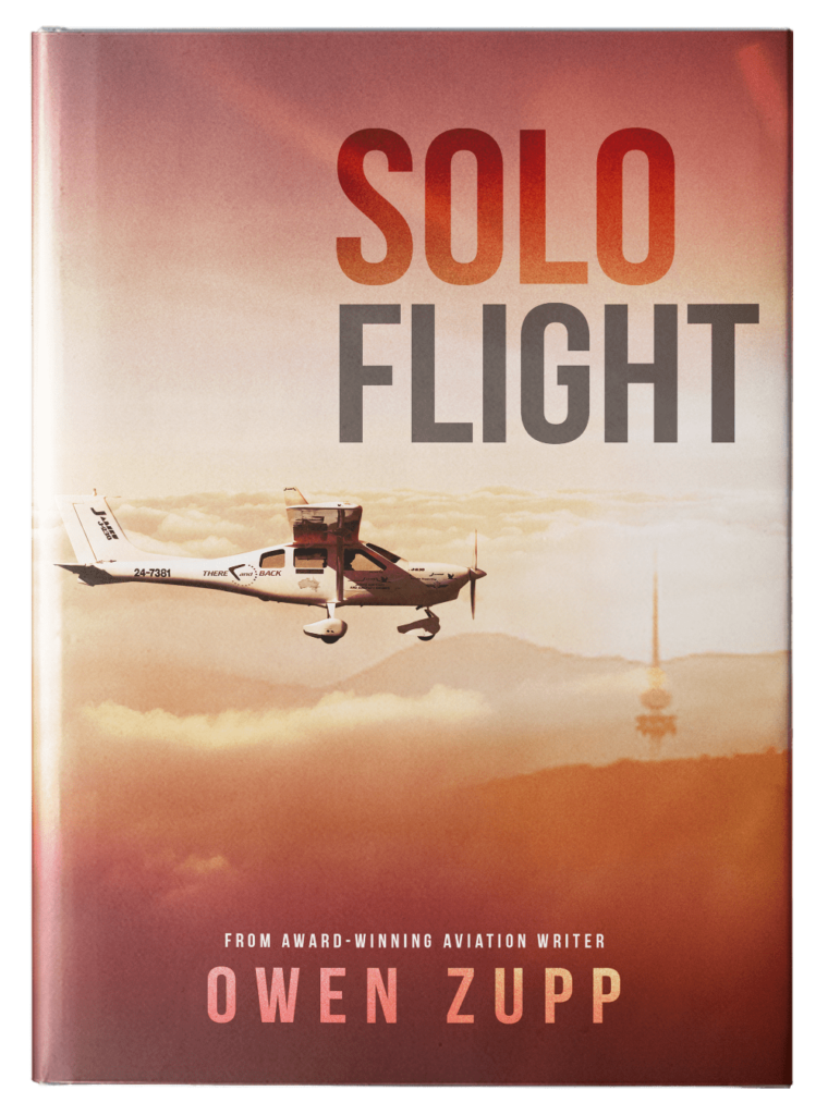 Owen Zupp, author, aviation books. Solo Flight