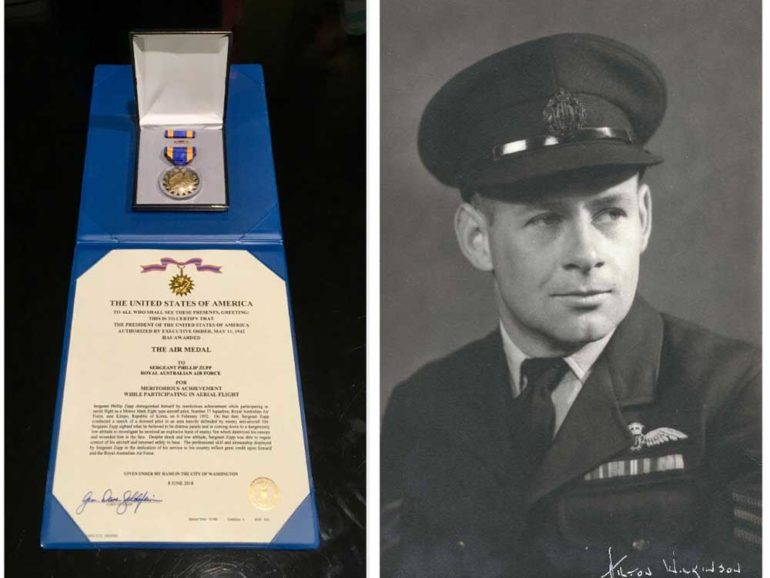 Phillip Zupp awarded the US Air Medal